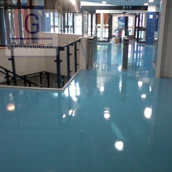 coatingvloer blauw